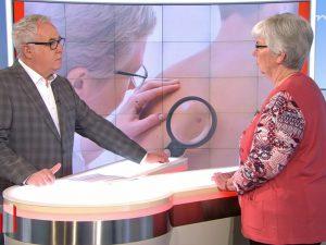 Moderator und Annegret Meyer