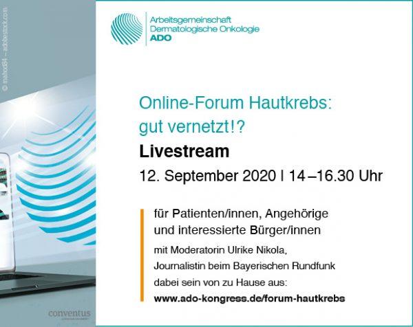 Jetzt als Video: Vorträge vom Patienten-Forum Hautkrebs 2020
