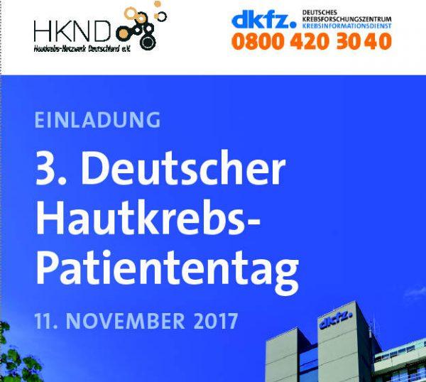 3. Deutscher Hautkrebs-Patiententag - Haben Sie schon gebucht?